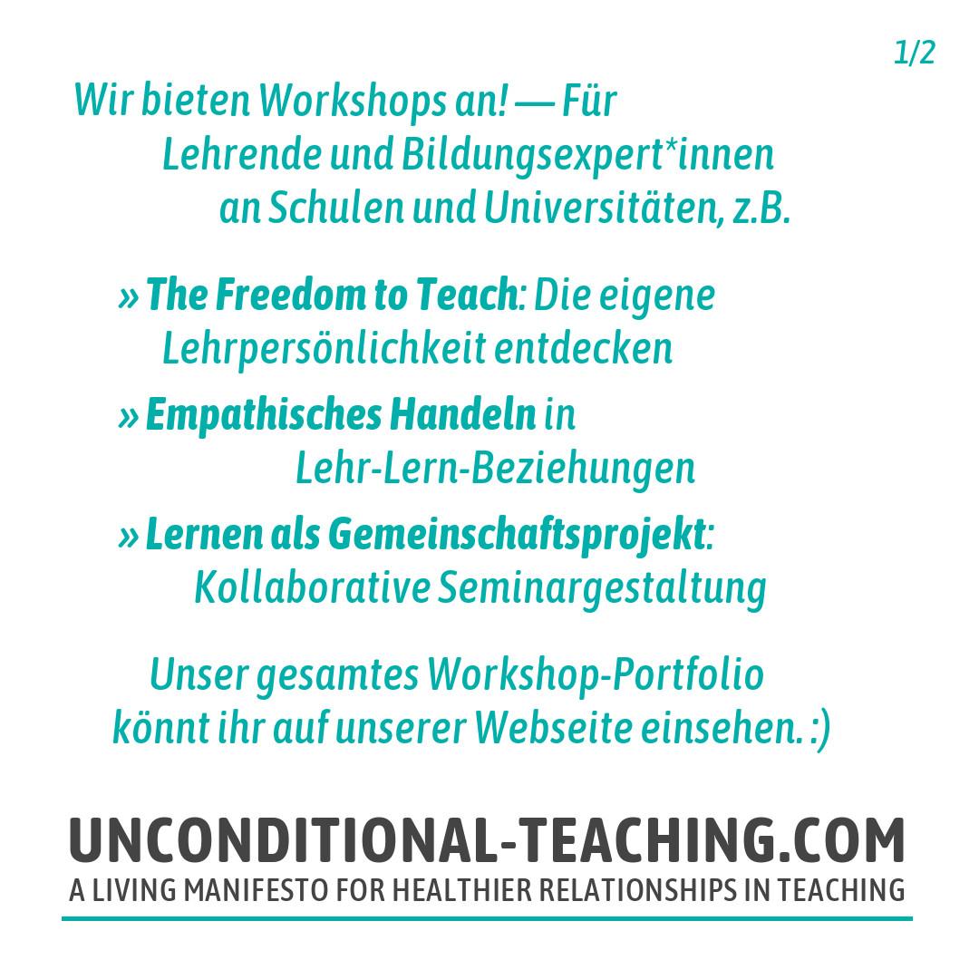 Wir bieten Workshops an!